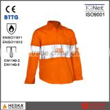 Mens FR safety fire resistant shirt with reflective tape