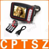 "1.8"" LCD Car MP3/MP4 Player FM Transmitter with Remote Controller - Red (SD/MMC/Mini USB)"