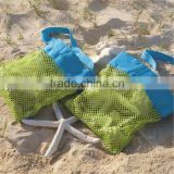 Vogue Mesh Tote Bag Clothes Toys Carry All Sand Away Beach Bag Baby Toy Collection Bag