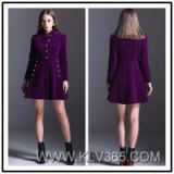 Ladies Fashion Winter Coat Dress Wholesale