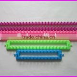 Top quality square shape ABS/plastic long loom knitting set for making scarf