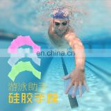 1 pair Swim Gear Swim Hand Fins Swimming Pool Half Finger Flippers Traning Gloves