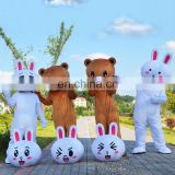 Cheap adult Cony Rabbit and Brown Bear mascot costume for sale