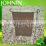 Factory supply fashion custom logo design printed outdoor blank burlap garden flags