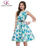 Grace Karin Rockabilly 50s Vintage Dress Plus sizes Sexy Cocktail Party Dress Vestidos Femininos CL6086-23#