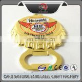 Top Quality OEM Items Business Souvenir Custom Made Embossed & Enamel Logo Gold Zinc Alloy Bottle Shape Opener