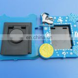 3D embossed mini photo frame in rubber, skating picture photo frame for promotional gifts