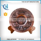 Custom custom metal souvenir plate made commemorative medal zinc alloy die cast cheap award