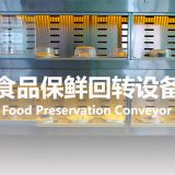Fashionable Led Lights To Map Custom Rotary Conveyor Belt For Food Preservation