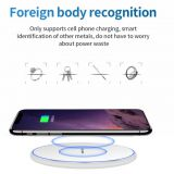 Mirror 10W Smart QI Wireless Charger Metal Simple Round Desktop Phone Fast Charge Wireless Charger