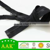 #3 rubber zipper plastic zipper strip open end zipper with pin and box accessories for bags