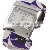 Alloy bangle wrist watch