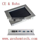 Wall mount industrial panel pc with 1 RJ45 Lan and 8 inch resistive touch screen