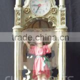 Polyresin desk clock with sculpture, Church belfry, Campanile