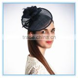 wholesale Ladies fashion church wedding hats and fascinators with feather