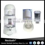 16L white color mineral water pot / 7 stage filter table top filter
