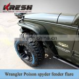 High quality 4x4 accessory aluminum jeep poison spyder wrangler alloy fender flares with different colors                                                                         Quality Choice