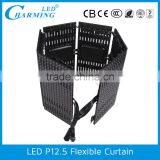 2016 Black Stage Decoration/Back Ground Decoration Flexible LED Curtains for Wedding Party
