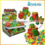 Cartoon tractor candy toy dispenser car toy China
