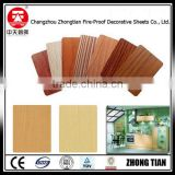 wood grain kitchen cabinet compact laminate board fireproof board hpl phenolic compact laminate board