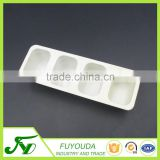 PP disposable white 4 holes plastic biscuits box