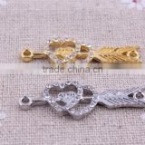 New style arrow&heart shinny rhinestone connector, crystal Connector for bracelet decoration making wholesale!!