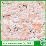 eco-friendly fiber decor wallcovering silk plaster wall coat