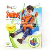 Children toys garden plastic swing seat with safty belt, outdoor baby swing toys for Wholesale for children, EB033107