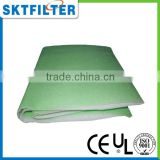 2014 hot sale Green needle cotton air filter media filter cotton