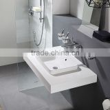 Environmental protection savingwater design ceramic wash basin C22206W glass waterfall faucet