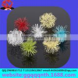 Christmas ornaments lamp accessories metal electrophoresis flowers braided wire weave pentagram STAR moon