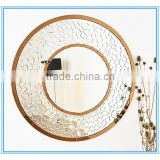 Silvery Frame with Golden Lace Mosaic Frame MDF Handmade Beveled Glass Mirror Mosaic Tile