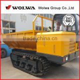 6 tons rubber track trailer rubber track transporter with self-dumping,transport machine