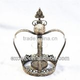 French home decoration antique wrought metal crowns