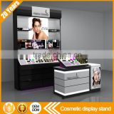 Best product customized retail shop store shelf acrylic makeup cosmetic display stand with 3 tires drawers for cosmetic                                                                                         Most Popular