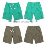 HOT-Sale Cover sea beach shorts bermuda masculina male quick-drying pure color loose pocket cargo elastic shorts men