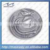 promotion custom metal 3D old pewter alloy token coin