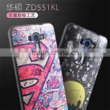 Colored drawing Flower Soft TPU Silk Skin case for Asus ZenFone Selfie ZD551KL