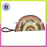 India designs pp decorations clutch bags and polyester with jute material promotional factory from China