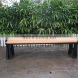 Backless wood bench with metal bench frame outdoor furniture garden Guangzhou