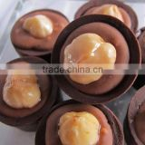 Milk chocolate Nuts and hazelnuts chocolate forming machine Almond Chocolate Truffles making mahcine