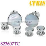 Manufacturer sales silver shell cufflinks and studs sets