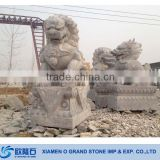 Outdoor Life Size Limestone Chinese Dragon Statue