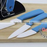 "BLUE Handle WHITE BLADE Professional chefs and home cooks 3""+ 4""+ 5""+Peeler Kitchen Ceramic knife Set"
