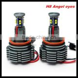 LED C ree Angel Eyes light 2*40W H8 For BMW E60 E61 E63 E64 E70 X5 E71 X6 E82 E87 E89 Z4 E90 E91 E92 M3 E93 Angel Eyes light
