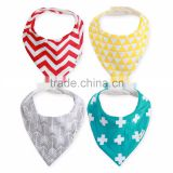 Best Quality Unisex Cute 4-Pack Baby Bandana Drool Bibs