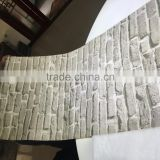 3d Brick Tiles Grey/ Bronze/ Charcoal PVC Wallpaper /Wallcovering/Wallpaper Wholesale Manufacture in Guangzhou                                                                         Quality Choice                                                     Most
