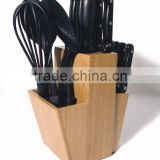Wooden Kitchen Knife Block Cutlery Holder for Home and Restaurant