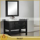 classic mdf mirrored basin hung waterproof bathroom cabinet RA307                                                                                                         Supplier's Choice