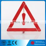 Flashing light roadside hazard warning sign Highway road kit portable emergency triangle